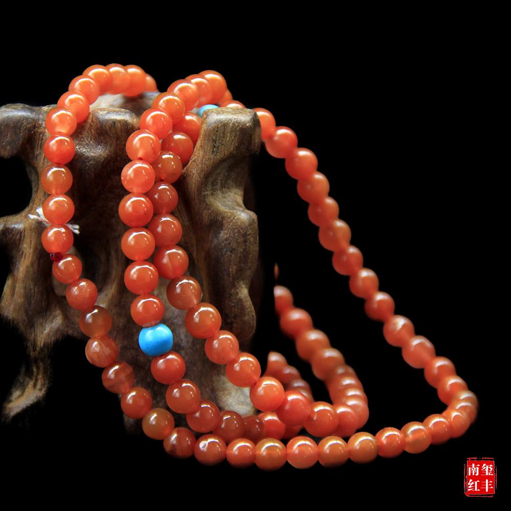 南红玛瑙精品亮光平手链