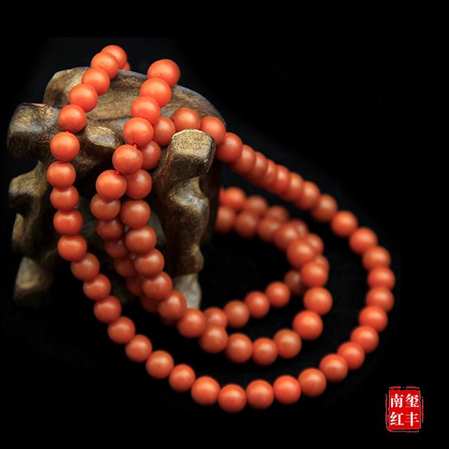 南红玛瑙哑光平珠手链/项链