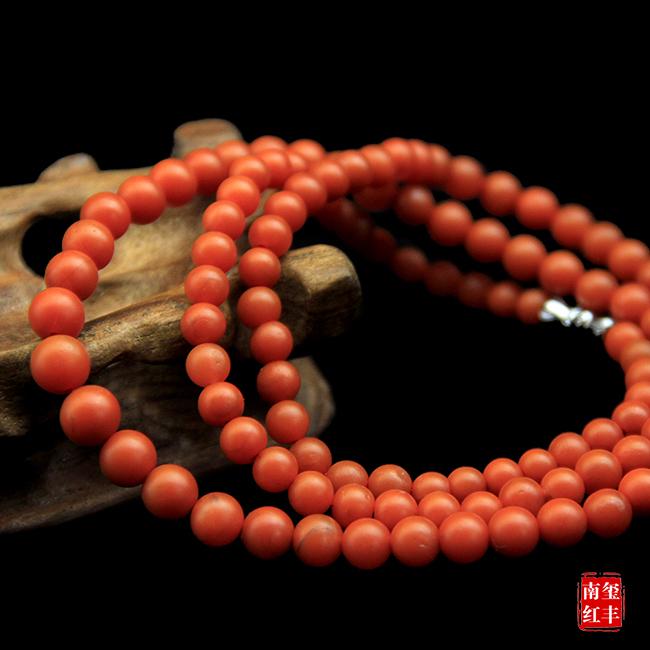 南红玛瑙精品哑光塔珠手链