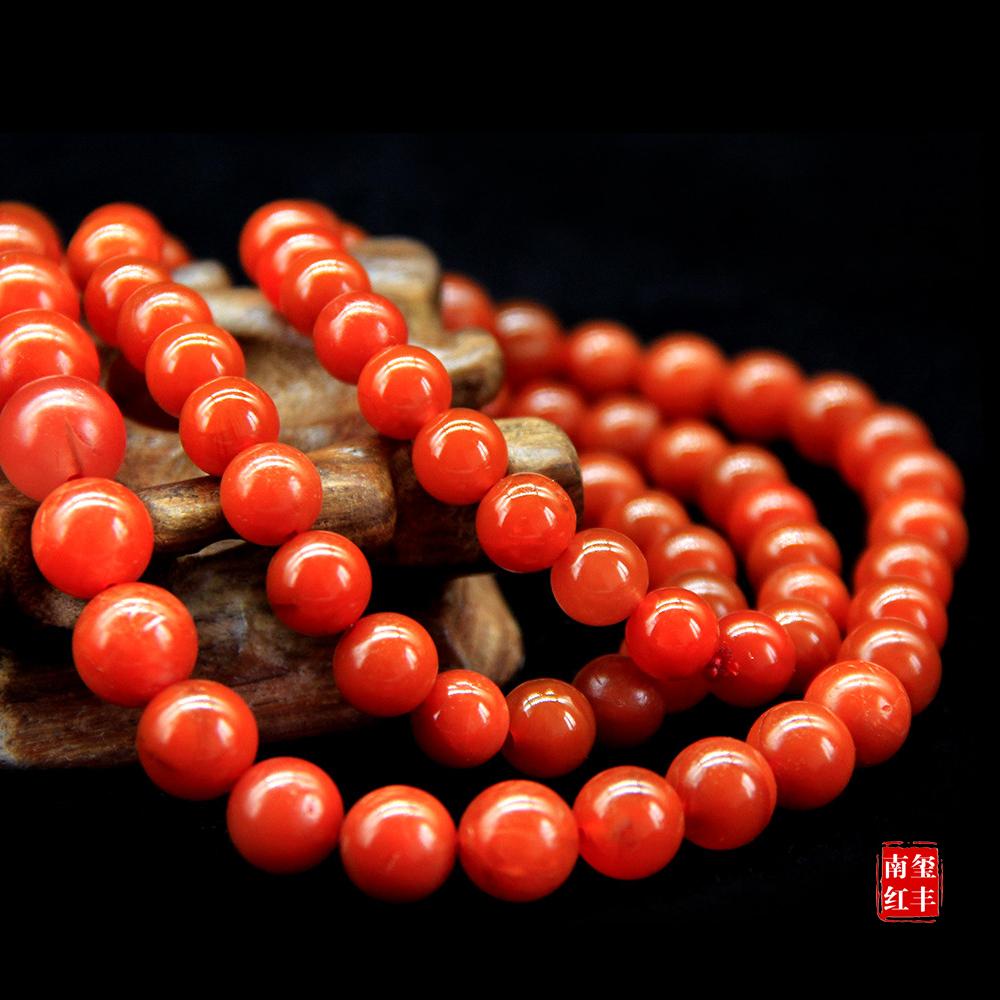 南红玛瑙精品亮光塔珠项链
