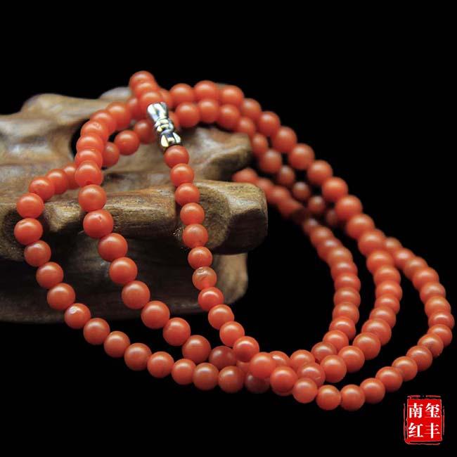 南红玛瑙亮光平珠手链
