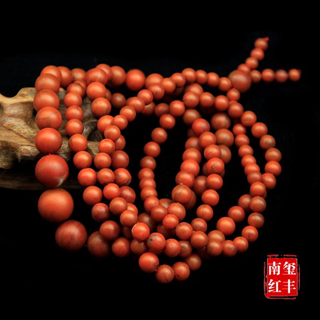 南红玛瑙精品哑光老南红塔珠