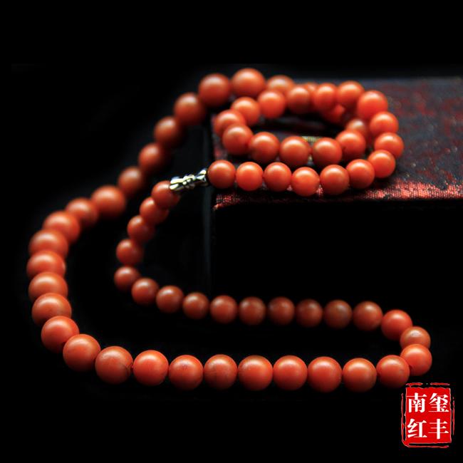 南红玛瑙哑光塔珠项链
