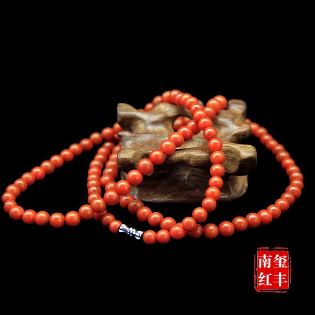 南红玛瑙哑光塔珠项链/手链