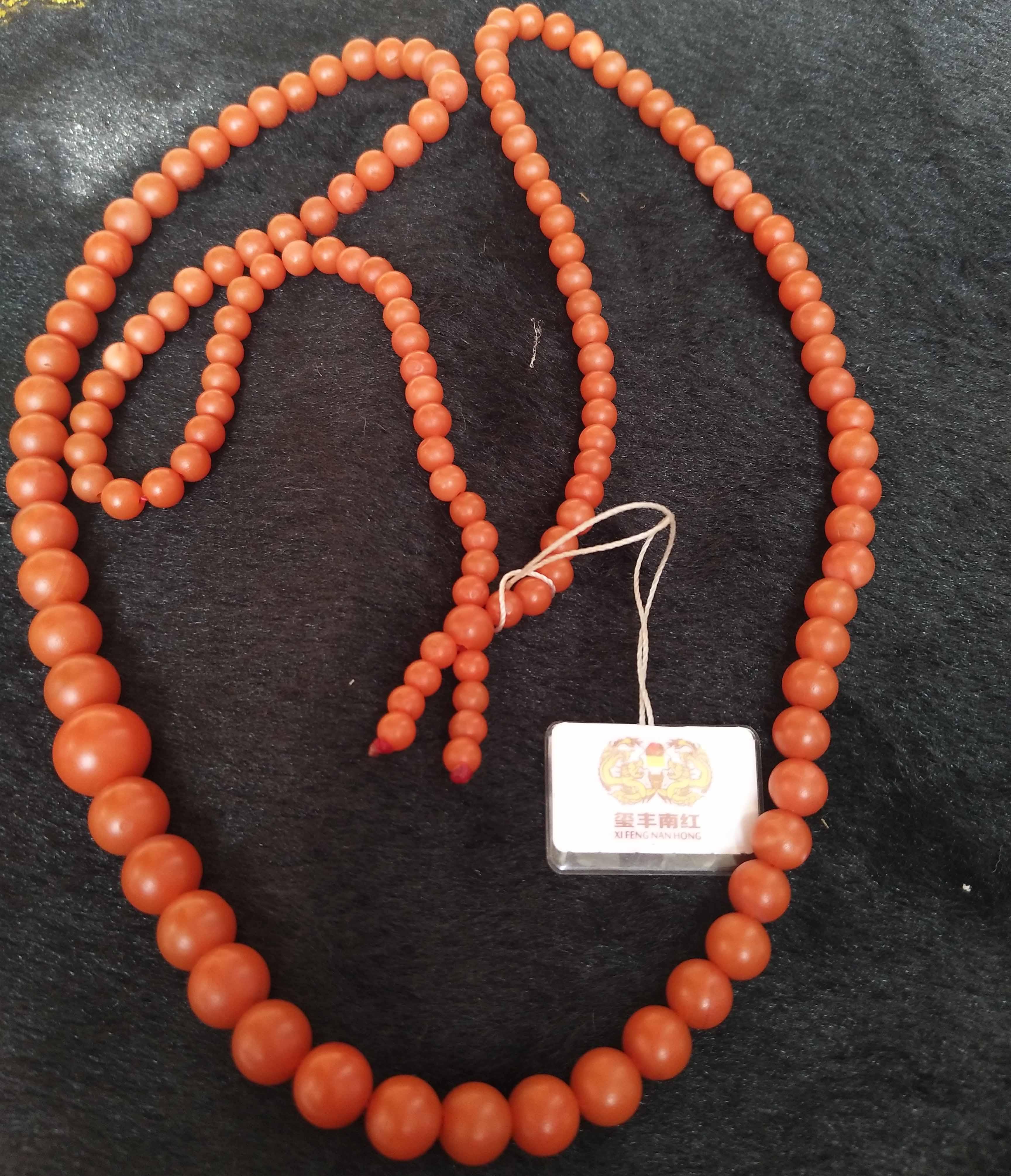 南红玛瑙塔珠项链